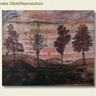 Repro - Egon Schiele - Vier Baeume