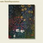 Repro - Gustav Klimt - Garten mit-Sonnenblumen