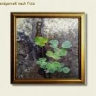 Bild nach Foto - Klee am Gehsteigrand